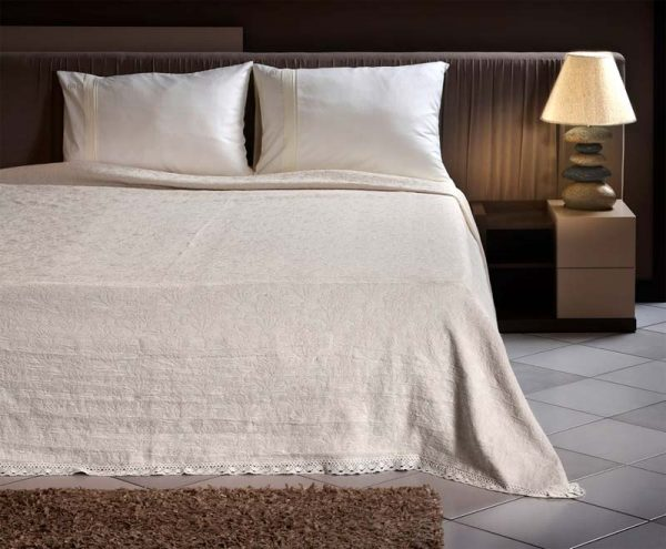 Κουβέρτα υπέρδιπλη art-1348 Lavish Gardenia