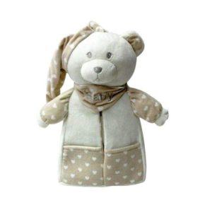 Αρκουδάκι θήκη με κουβέρτα fleece 80X110 billy Makis Tselios