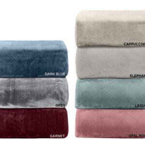 Μονόχρωμη Κουβέρτα Βελουτέ υπέρδιπλη (220x240) 802 Adam Home