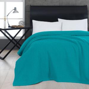 100% Βαμβακερή καλοκαιρινή κουβέρτα πικέ .