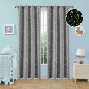 Κουρτίνα φωσφορίζουσα με 8 κρίκους Art 6140 γκρι - 140x260 Γκρι Beauty Home