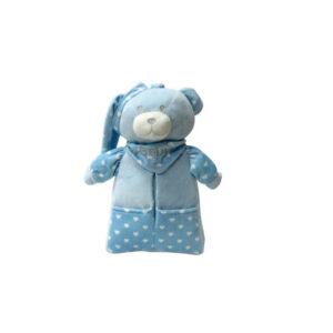 Αρκουδάκι θήκη με κουβέρτα fleece 80X110 billy Makis Tselios.